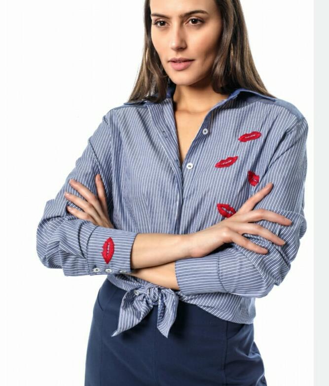 Camisa Andria Azu Boca Raiz