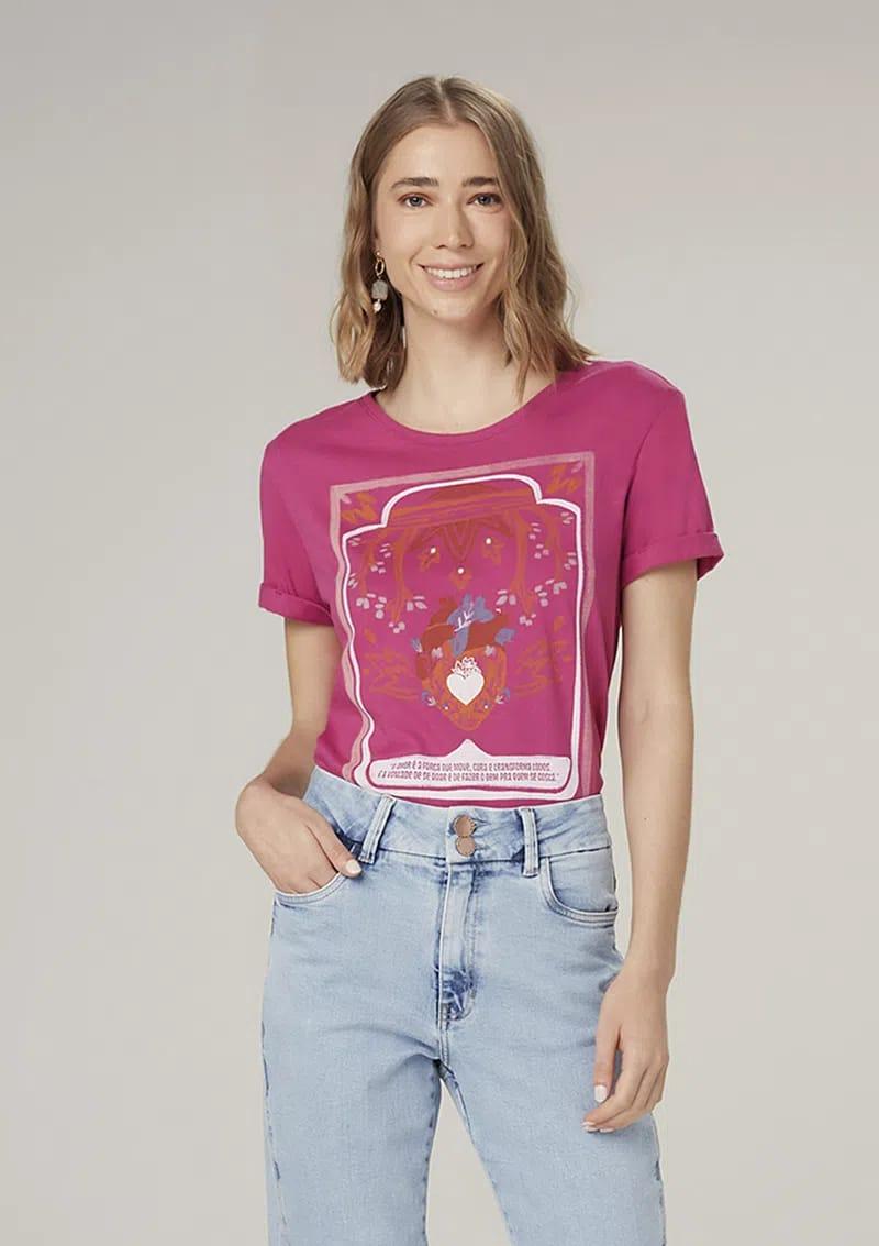 Camiseta Gola Redonda Dzarm 6rz7