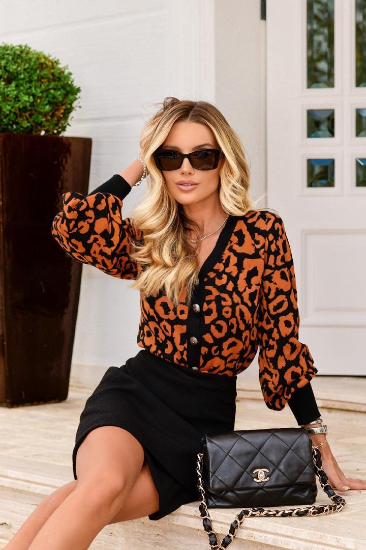 Casaqueto Leopardo Jacquard Solange Blessed