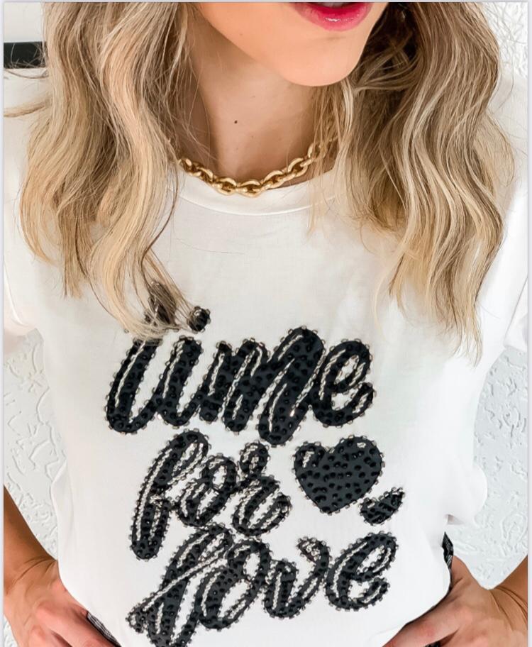 T-shirt Bordado Time For Love Florenza