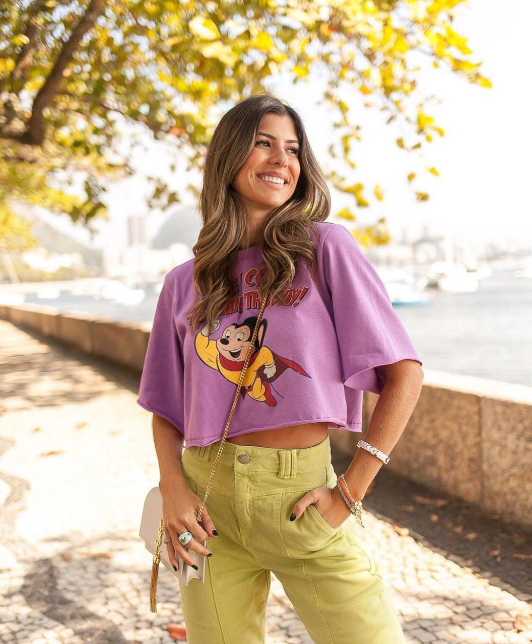 T-shirt Crop Mouse Vida Bela