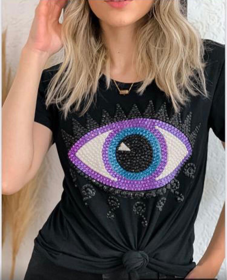 T-shirt Olho Bordado Florenza
