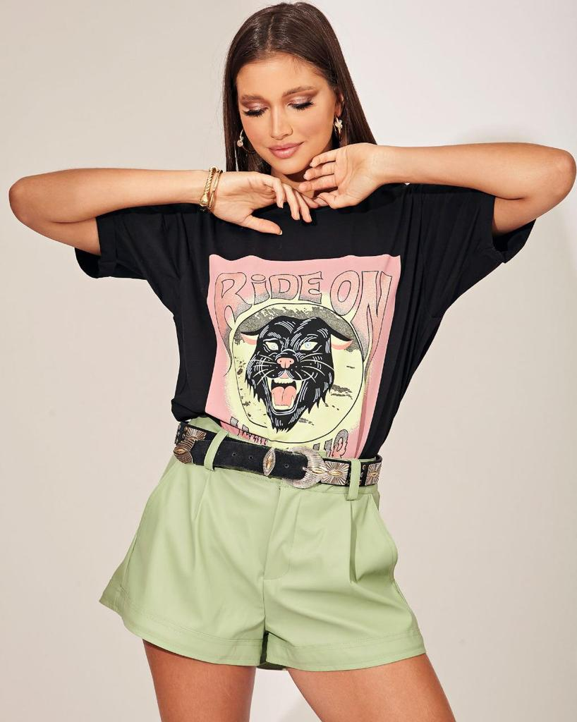 T-shirt Rideon Pantera Vida Bela
