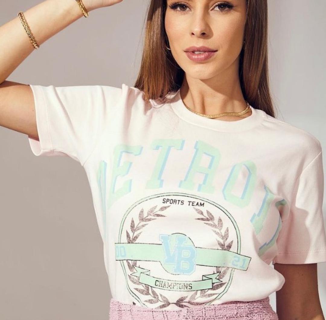 T-shirt Varsety Vida Bela