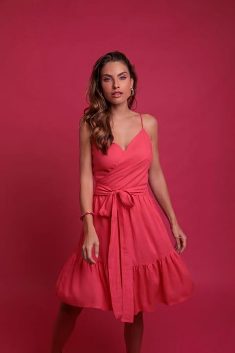 Vestido Linho Curto Claudia Infinity