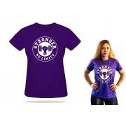 Camiseta Feminina Violeta Be Stronger Silk Branco