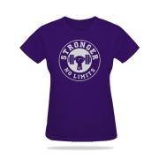 Camiseta Feminina Violeta Be Stronger Silk Prata