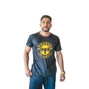 Camiseta Masculina Preta Be Stronger Silk Amarelo