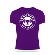 Camiseta Masculina Violeta Be Stronger Silk Branco