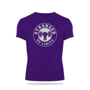 Camiseta Masculina Violeta Be Stronger Silk Prata