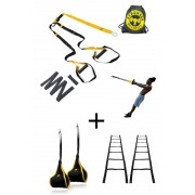 Fita de suspensão - Argola - Completa + Tipoia Abdominal + Escada de Agilidade