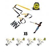 KIT - Fita de suspensao - Argola - Completa 5 unidades