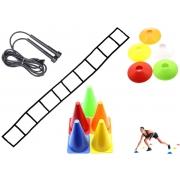 Kit Funcional Agilidade Be Stronger (1 Escada de Agilidade; 1 Corda de Pular; 6 Cones de Agilidade; 10 Chapéus Chinês)