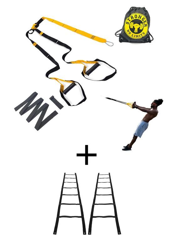 Fita de suspensão - Argola - Completa 3x + Escada Agilidade 2x