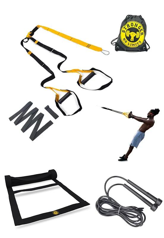 Fita de suspensão - Argola - Completa + Escada Agilidade + Corda de Pular