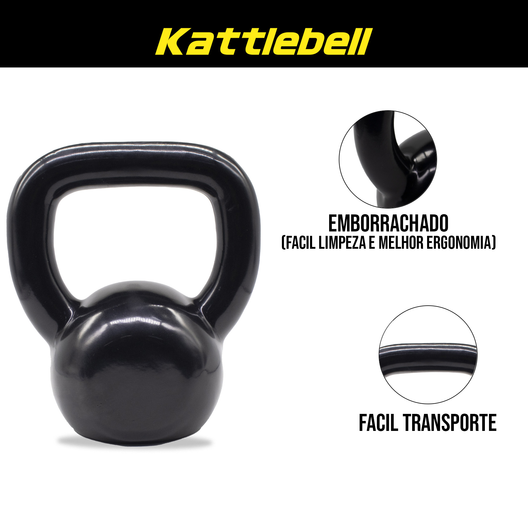 Kettlebell Emborrachado Peso:12KG