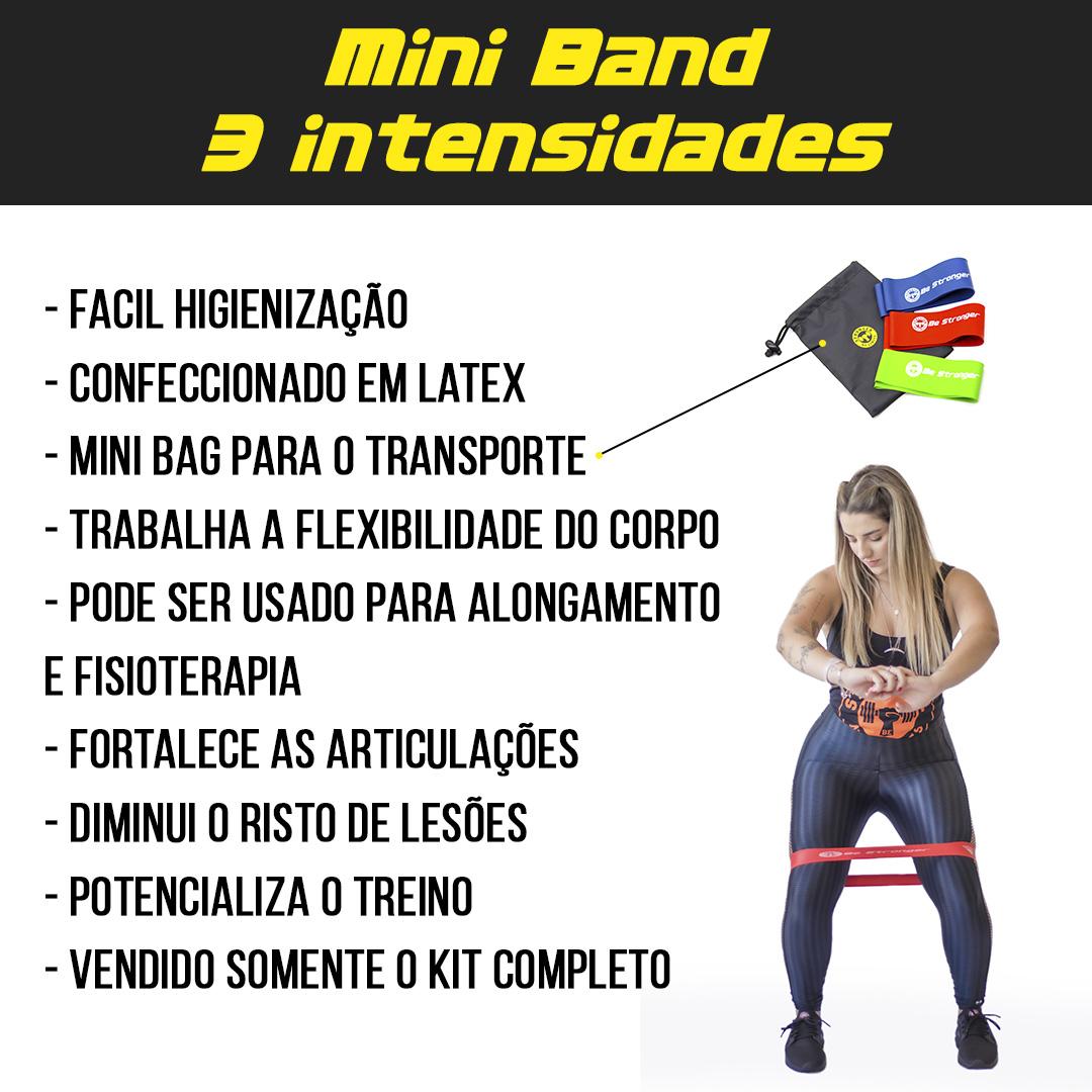 Kit Caneleira de Peso 2kg + Corda de Pular + Mini Bands 3