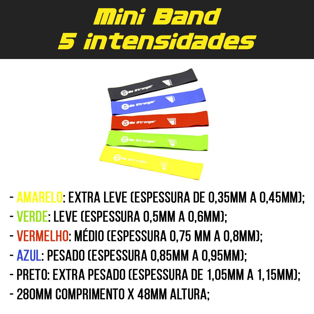 Kit Colchonete de Espuma + Corda de Pular + Mini Bands 5