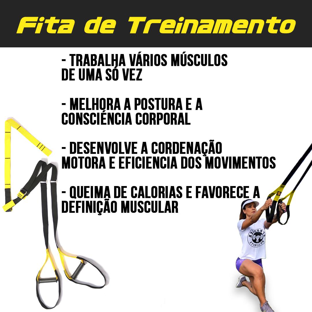 Kit Fita de suspensão - Argola - Completa + Munhequeira Elástica