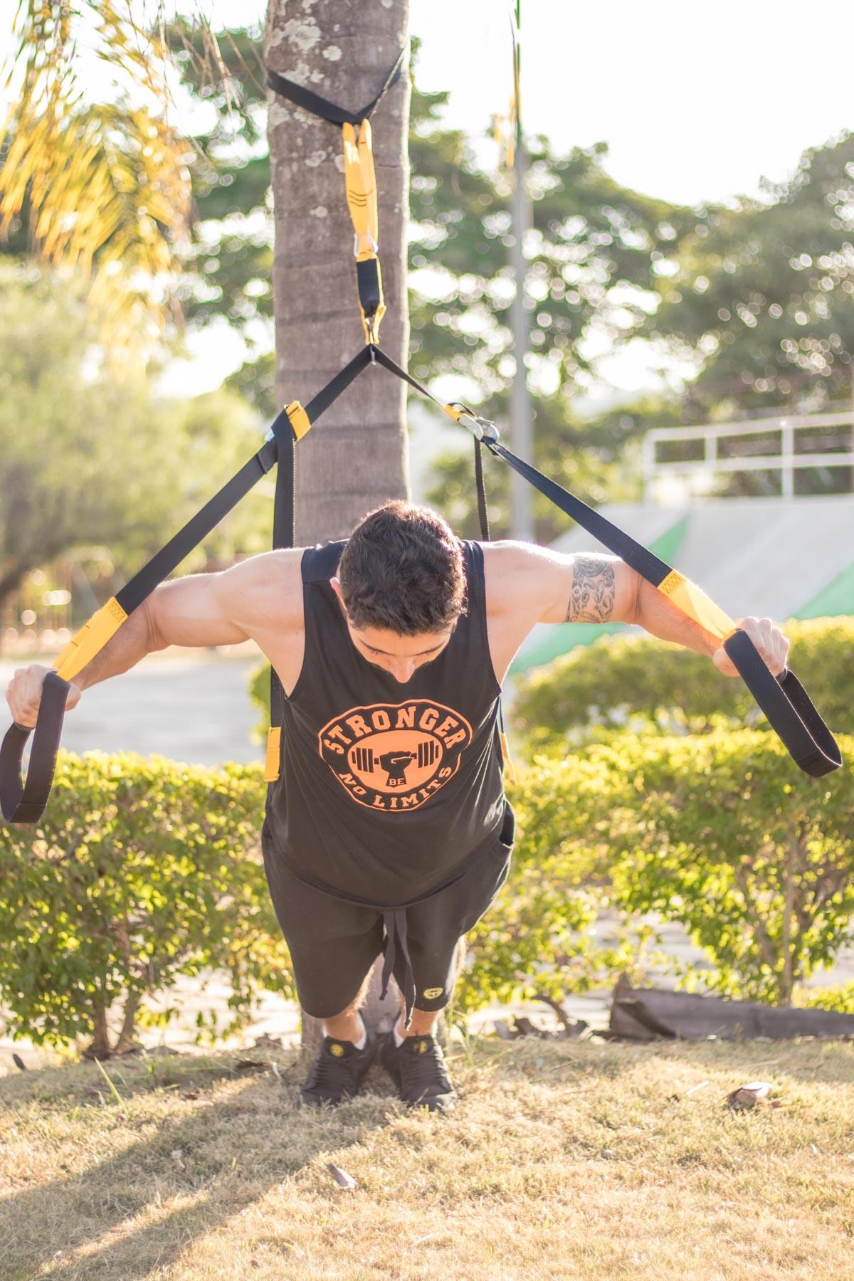 KIT - Fita De Treinamento Suspenso + Faixa de Joelho