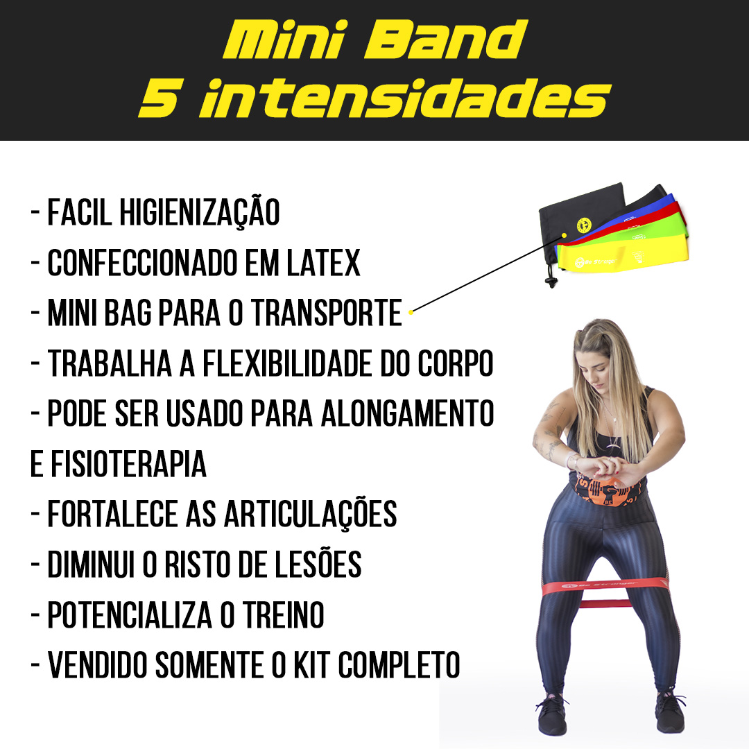 Kit Mini Bands Be Stronger - 5 peças