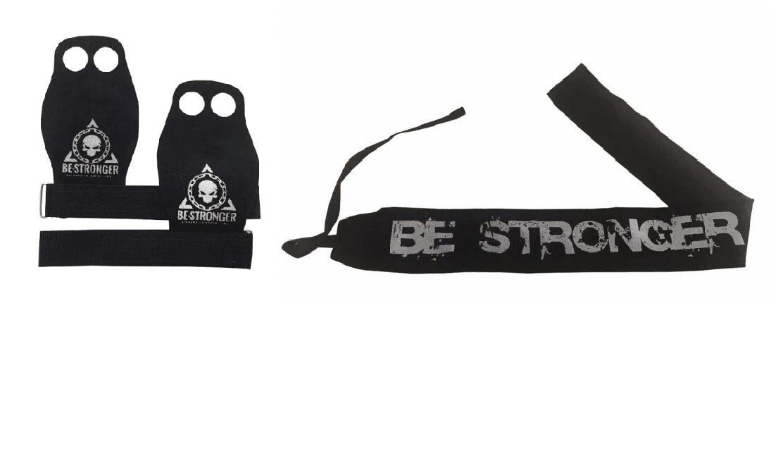 Munhequeira Strenght Wrap (Tecido não elástico) + Grip Flamma