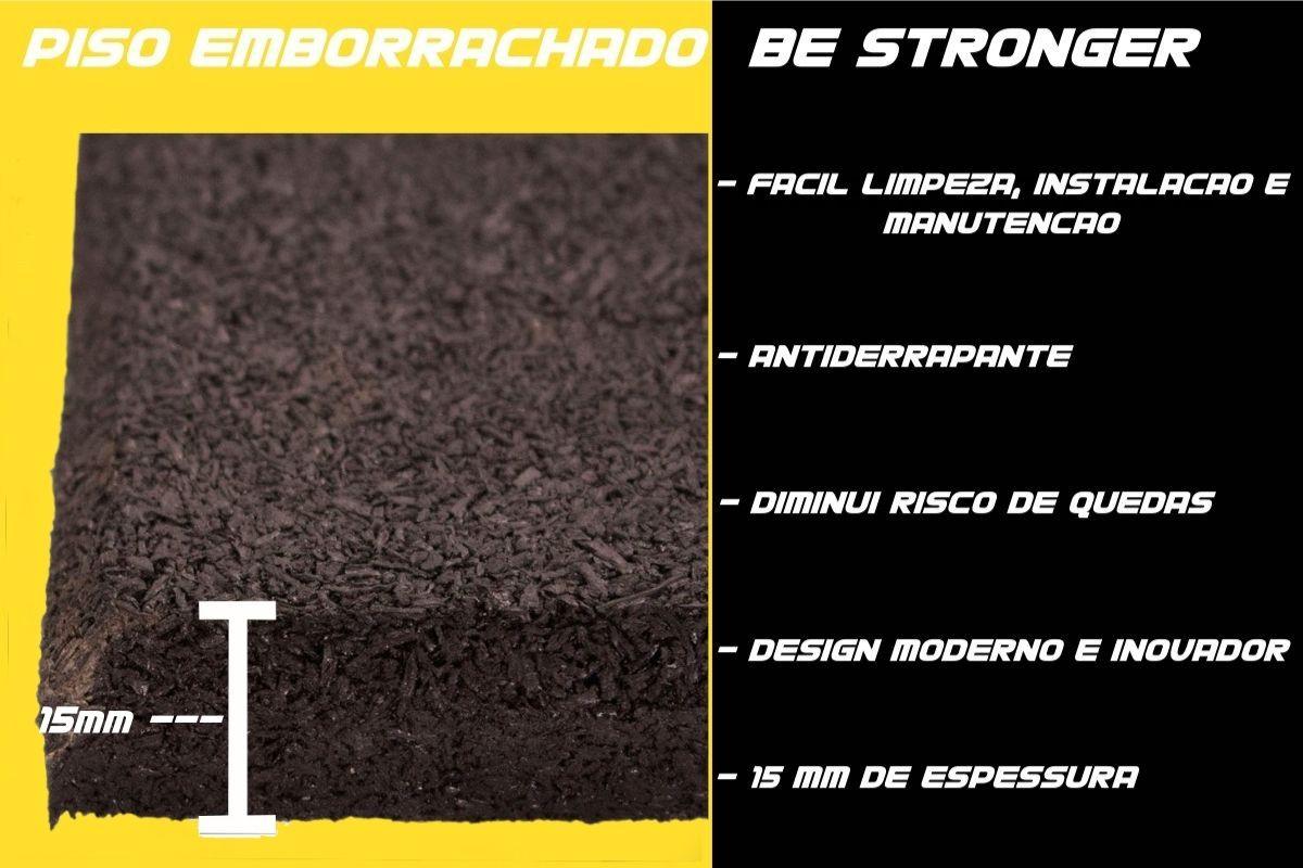 Placa de Borracha Piso para Academias e CrossFit