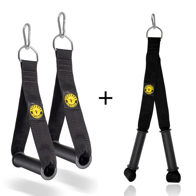 Puxador De Mão + Puxador Para Tríceps c/ manopla