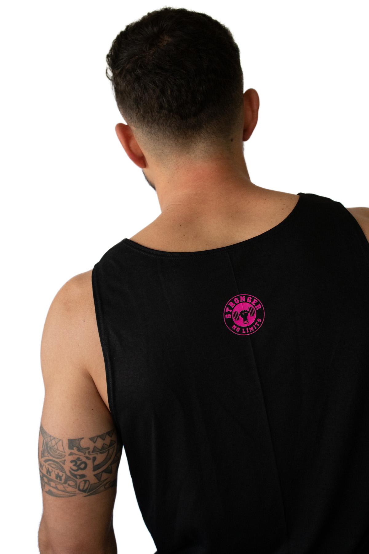 Regata Masculina Preta Be Stronger Silk Rosa Pink