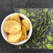 Batata assada com lemon pepper