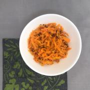 Cenoura refogada com hortelã
