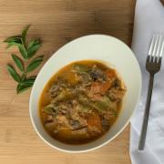 Portobello com legumes ao molho de tahine + 1 acompanhamento