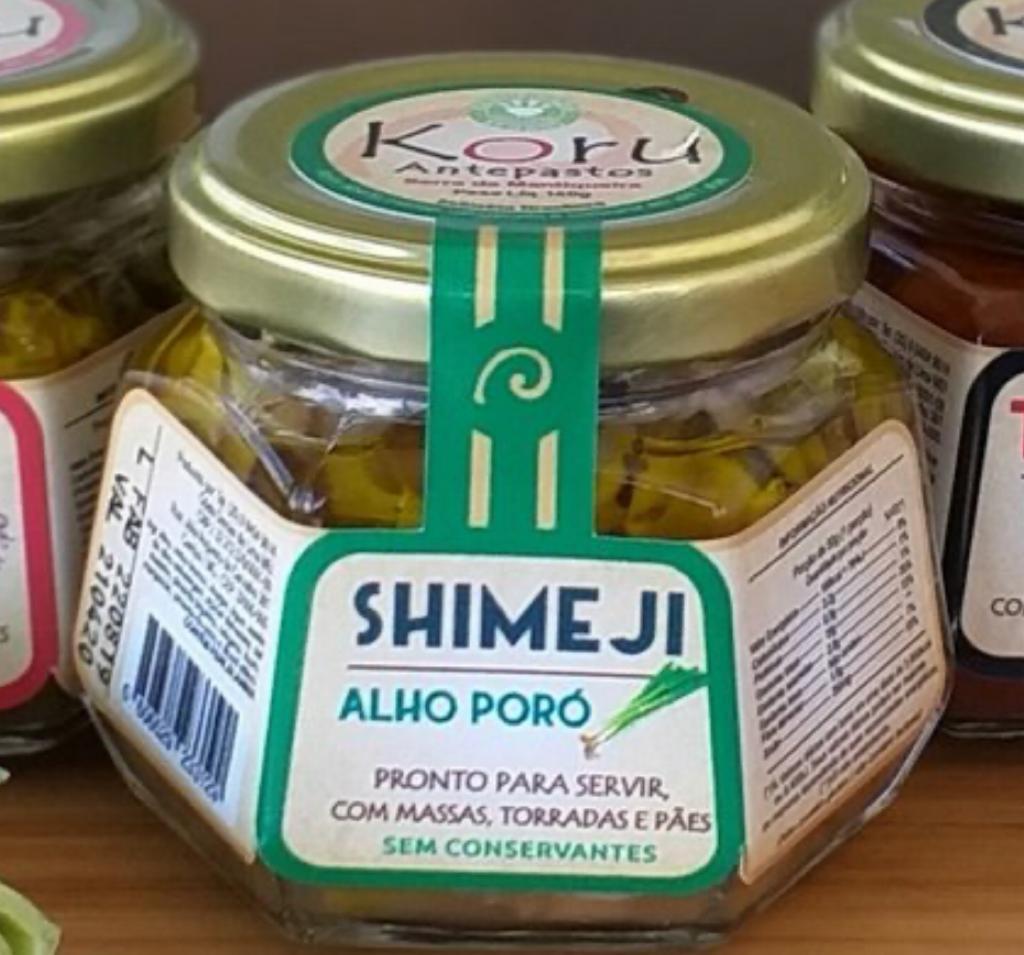Antepasto de shimeji com alho poró