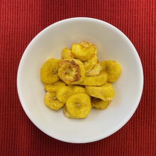 Banana da terra assada