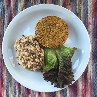 Hambúrguer de quinoa e batata doce