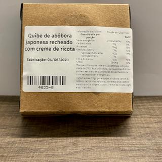 Quibe de abóbora japonesa com creme de ricota