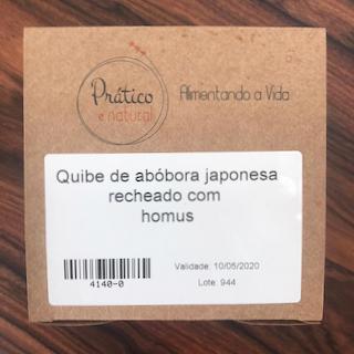 Quibe de abóbora japonesa recheado com homus