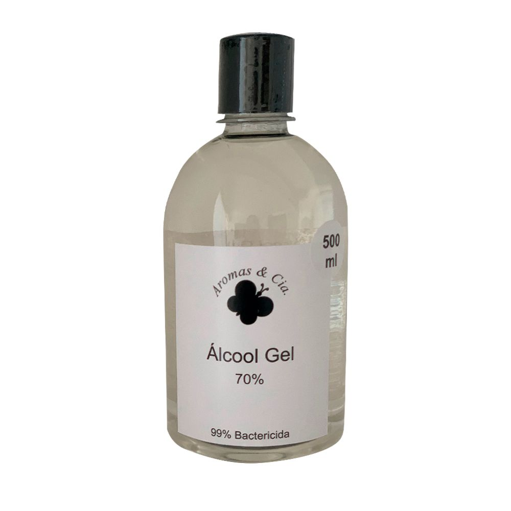 Álcool gel 70% para mãos - 500 ml - 99% bactericida