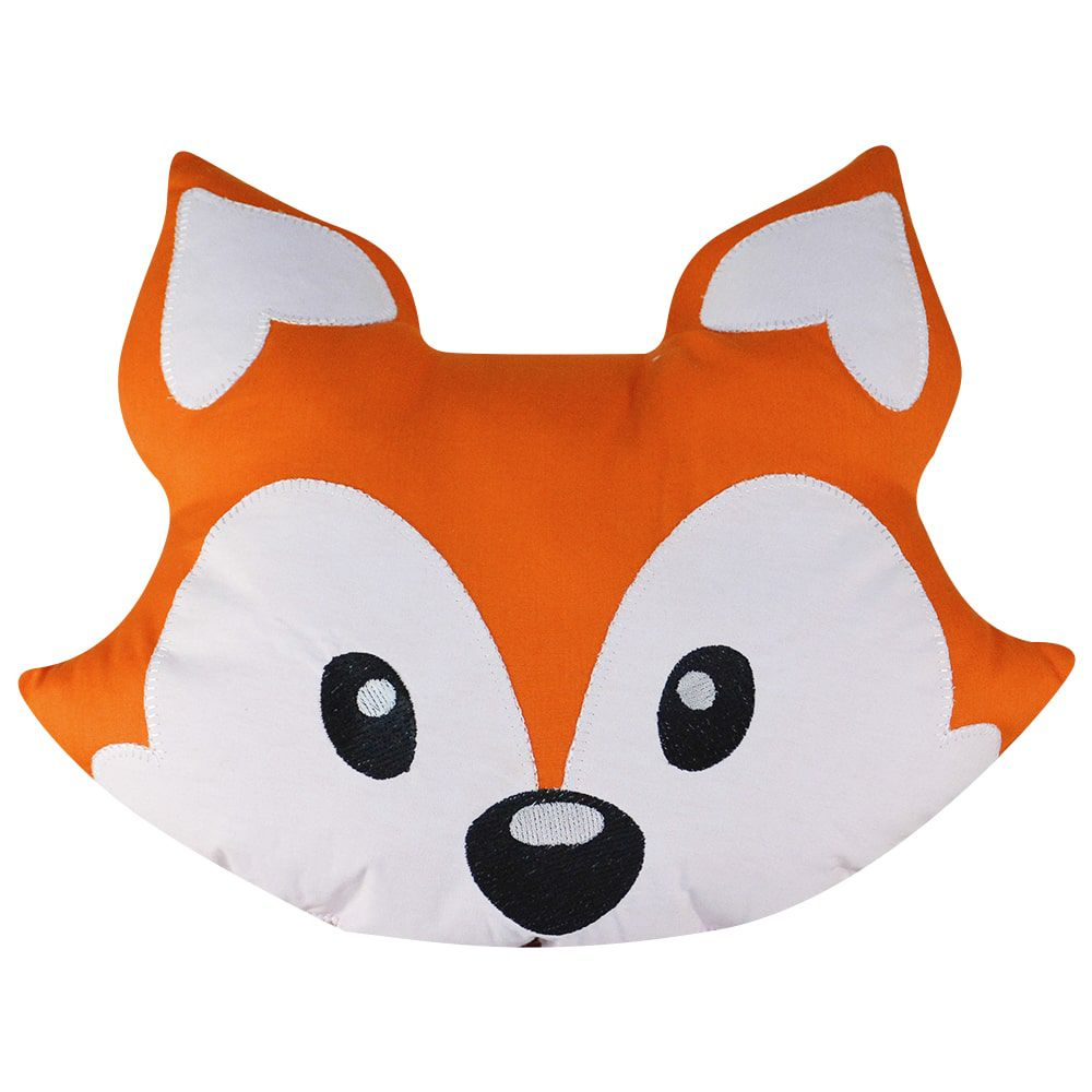 Almofada de tecido antialérgico 100% algodão - raposa laranja 38 x 32 cm