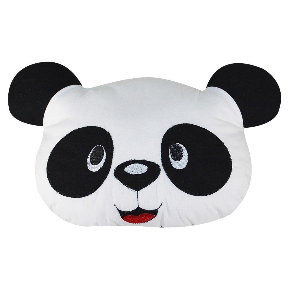 Almofada de tecido antialérgico 100% algodão - urso panda 38 x 32 cm