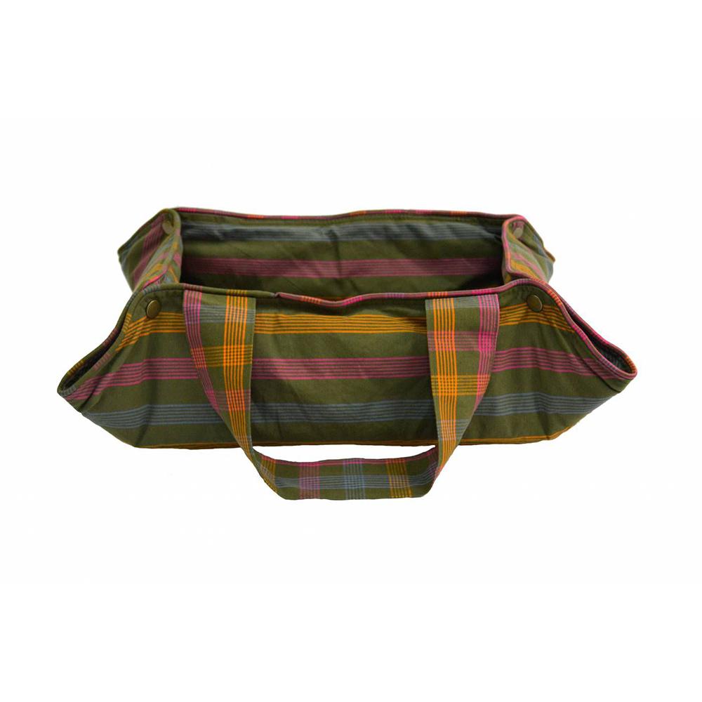 Bag/Sacola Esteira Fina para Pet com Botão de Pressão Geométrico Verde