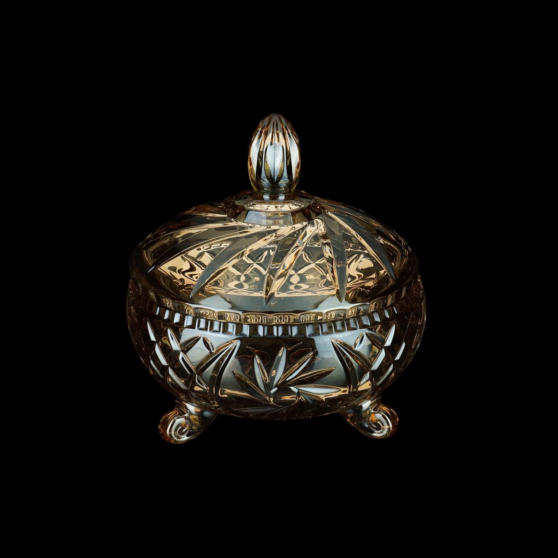 Bomboniere de Cristal Âmbar 23 x 24,5 cm