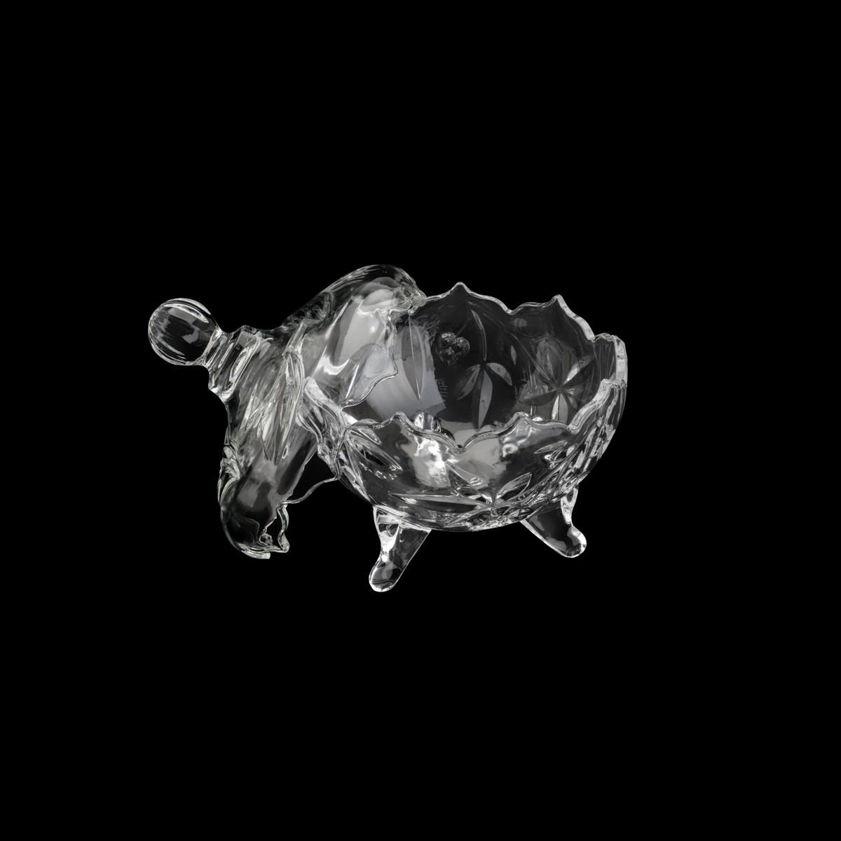 Bomboniere / Potiche Com pé De Cristal de Chumbo Fruit 14 x 17,5 cm