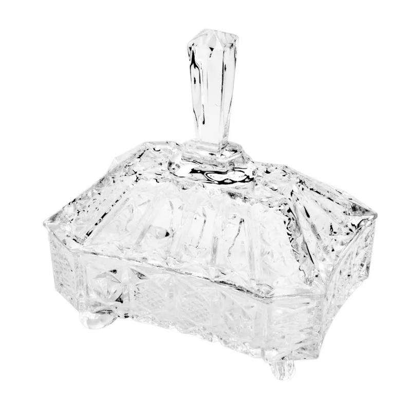 Bomboniere / Potiche com pé De Cristal de Chumbo Megan  10,5 x 7,5 cm