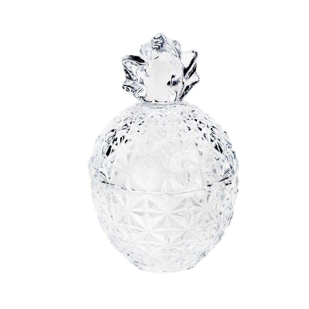 Bomboniere / Potiche De Cristal de Chumbo Abacaxi 10,5x15,5cm