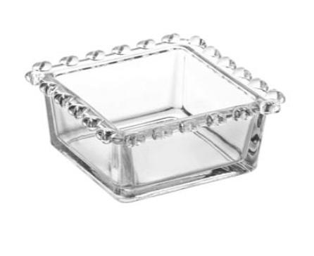 Bowl Quadrado de Cristal de chumbo Coração 8,5 x 8,5 x 5 cm