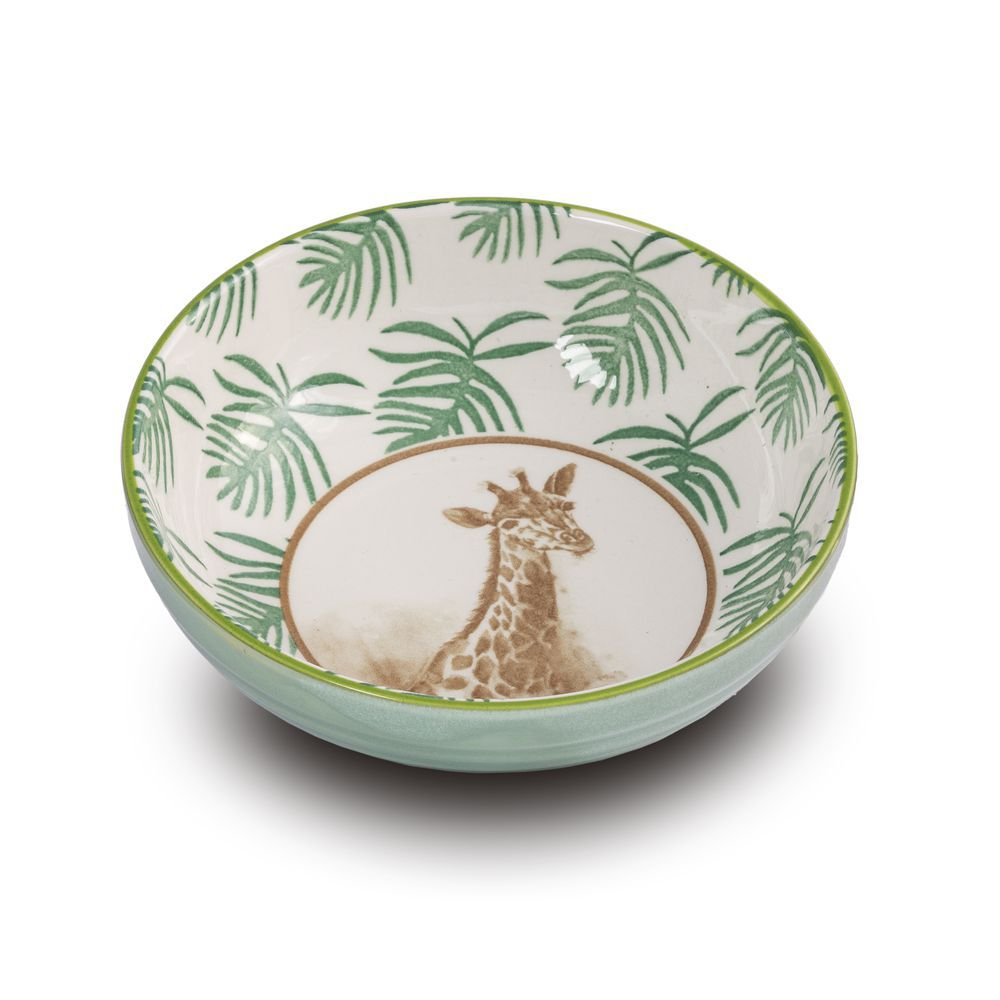 Bowl Tigela Cumbuca Cereais Girafa Pequena 12,5 X 4 Cm