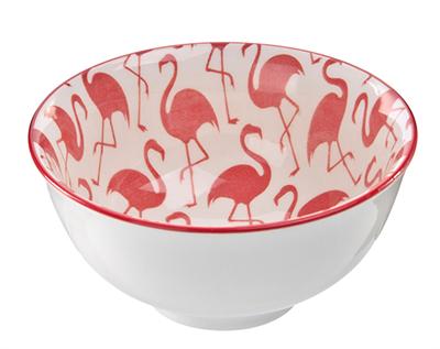 Bowl Tigela Cumbuca Cereais Molhos Flamingo 300ml 1 Unidade