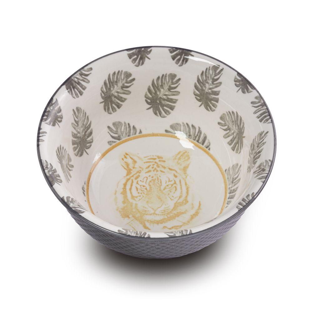 Bowl Tigela Cumbuca Cereais Molhos Tigre Amarelo - 12,5 X 6 Cm