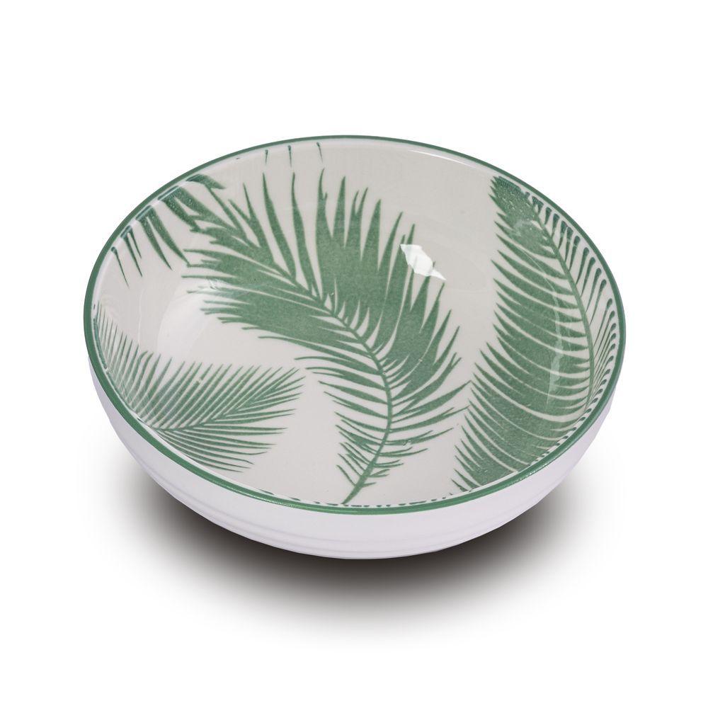 Bowl Tigela Cumbuca Folhas Verdes Pequena 12,5 X 4 Cm